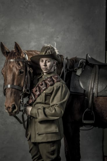 Marielle Sweeting, 23, is the youngest female riding member of the Sydney Australian Light Horse Association.