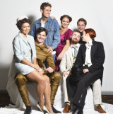 The cast of Everyman Theatre's production of <i>Queers</i>.