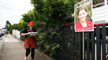 Amy MacMahon has Jackie Trad's electorate in her sights, but may struggle to pick up the required LNP preferences.