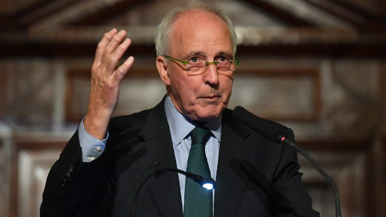 Paul Keating speaks at a book launch at Customs House in Brisbane on Wednesday.