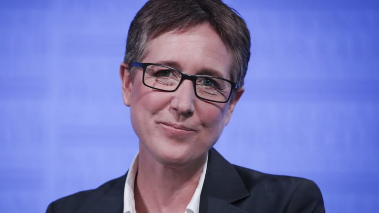 ACTU secretary Sally McManus at the launch of the 'Change the rules' campaign.