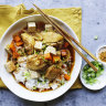 Neil Perry's Korean-style braised chicken with tofu