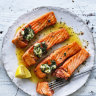 Neil Perry's grilled ocean trout with garlic, rosemary and anchovy butter