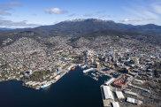 Hobart aerial shot