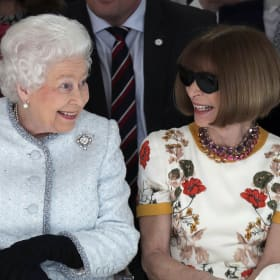The Queen joins fashion royalty in front row at London Fashion Week
