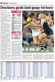 First published in The Age on August 1, 2014 - Match Report.