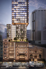 BVN's winning design for the City Tattersalls Club in Sydney.