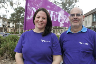 Casual academic Sarah Ambrose and assistant professor James Neill say workloads across the University of Canberra are unsustainable and academics are suffering.