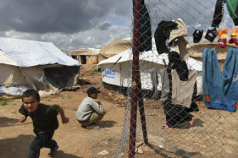 Foreign IS wives and children in the overcrowded al-Hawl camp.