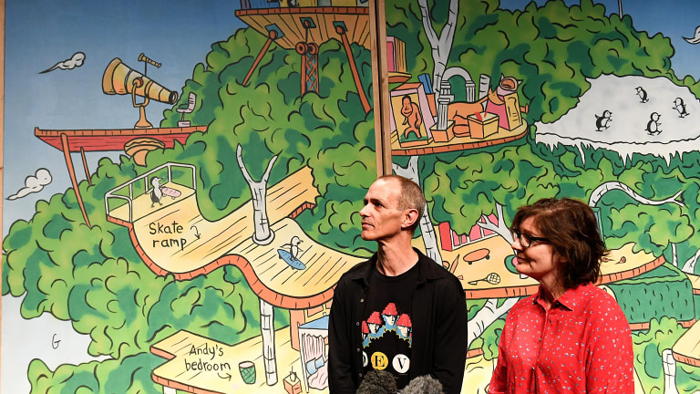 Treehouse series author Andy Griffiths and editor Jill Griffiths at QPAC ahead of the premiere.
