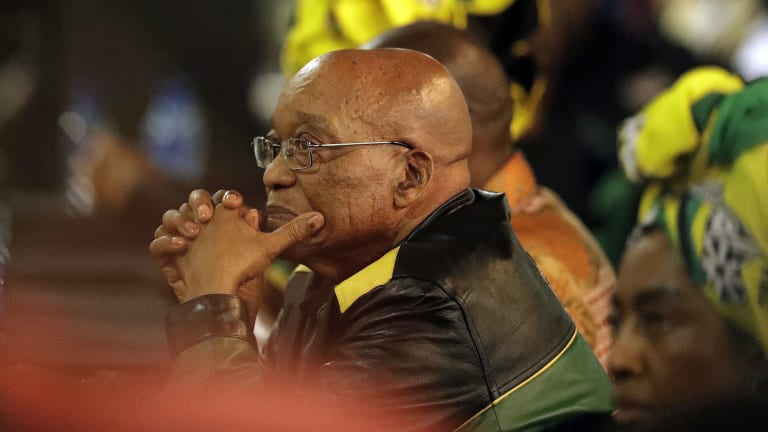 South African President Jacob Zuma at the newly-elected ANC elective conference in Johannesburg in December.