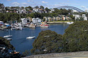 Berrys Bay, which lies between McMahons Point and Waverton on the northern side of Sydney Harbour.