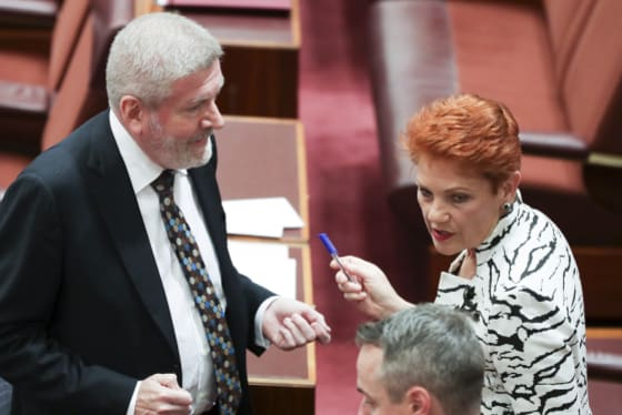 The competitive neutrality review was part of a deal with One Nation to support media ownership reforms.