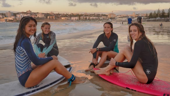 Four girls are suiting up against the boys in Bondi to save lives