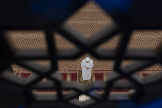 A Muslim prays during the first day of Ramadan at National Mosque in Kuala Lumpur, Malaysia on April 24.