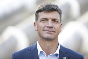 Energy Minister Angus Taylor, whose seat of Hume is expected to be among those worst hit by climate change.