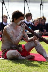 "At the ""Meeting of Two Cultures"" ceremony at Kurnell in 2012."
