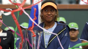 Naomi Osaka had a memorable post-match presentation at Indian Wells.