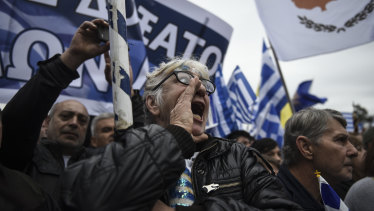 Protesters included members of the far-right Golden Dawn and hard-line clerics.