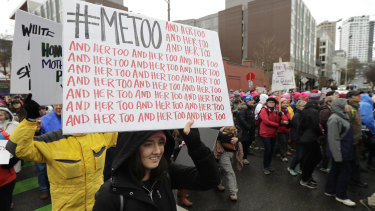 A #MeToo march in the United States.