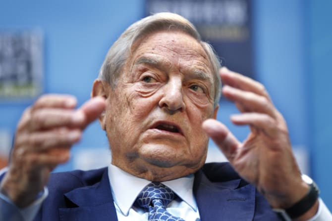 Soros George Soros has sent a huge warning to the EU in his speech in Paris this year.