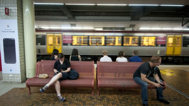 There are 10 million fewer passengers on SEQ CityTrains in 2016-17 than in 2008-09.