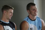 Staying put: Blayke Brailey will play on with his brother Jayden at Cronulla.