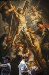 """""""The Martyrdom of St. Andrew"""" by Flemish master Peter Paul Rubens in the Rubenshouse in Antwerp, Belgium."""