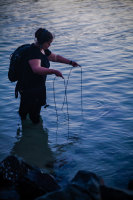 Leah Barclay records the rich sounds underwater in fresh water and marine environments.