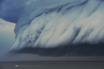 A shelf cloud off Sydney in 2015.