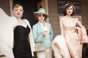 Sarah Snook (Trudy), Amanda Woodhams (Nancy), Hayley Magnus (Prudence) in Marion Boyce costumes.