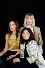 Seeker Lover Keeper: Holly Throsby, left, Sarah Blasko and Sally Seltmann wrote the songs for their latest album in two weeks of sessions, and recorded them in 11 days.