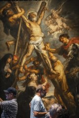 """The Martyrdom of St. Andrew"" by Flemish master Peter Paul Rubens in the Rubenshouse in Antwerp, Belgium."