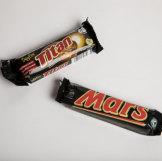 Mars and Aldi's Titan chocolate bars.