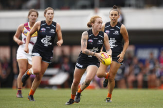 Tilly Lucas-Rodd in action against Brisbane