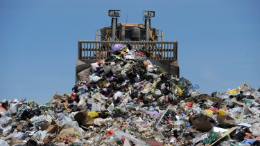 Recycling waste from NSW has been ending up in Queensland landfill.