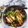 Neil Perry's chicken with fish-fragrant eggplant sauce
