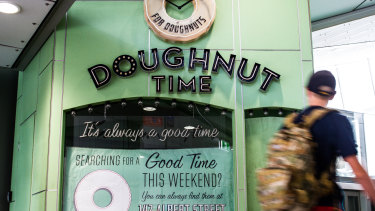 The Doughnut Time store in King George Square busway station in Brisbane was also closed on Sunday.