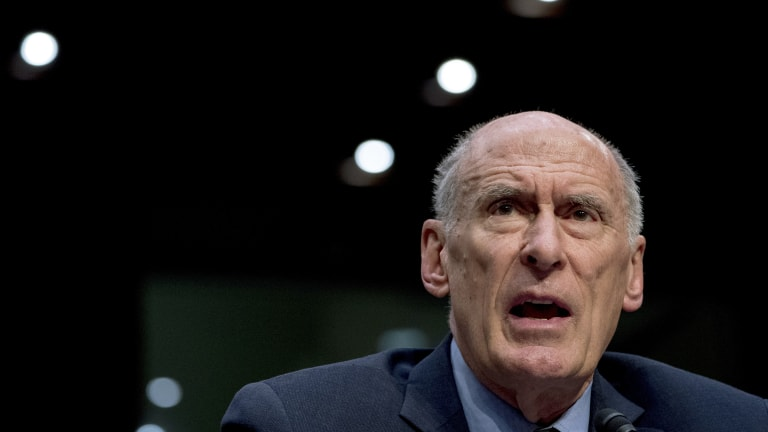 Director of National Intelligence Dan Coats speaks at a Senate Select Committee on Intelligence.