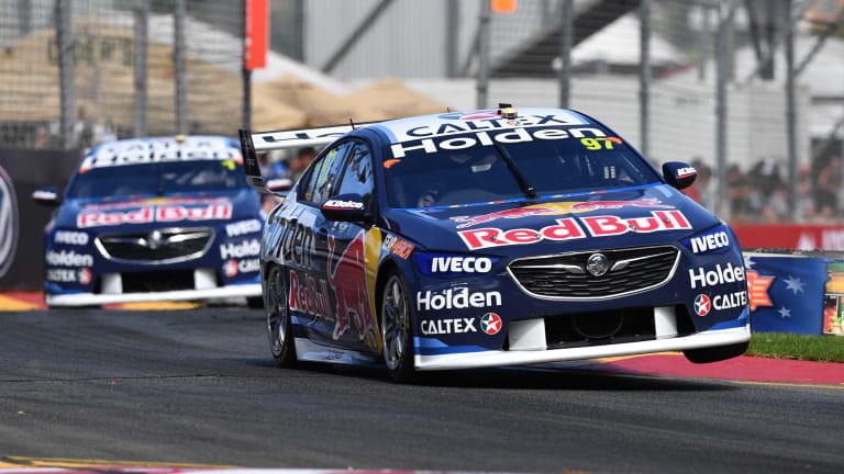 Dream start: Shane van Gisbergen from Red Bull Holden Racing Team take on the Adelaide circuit.