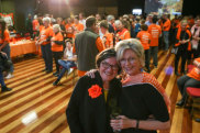 New Indi independent Helen Haines with Cathy McGowan, the two-term representative who handed the reins to her.