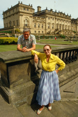 Lord and Lady Harewood at Harewood House in Yorkshire.
