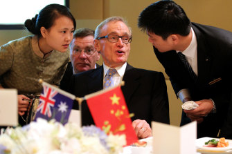 Nicholas Stuart was to be among a small party of Australian journalists, scheduled to be in Beijing with Bob Carr. Mr Carr said the trip was halted after visas were denied to some in the group.