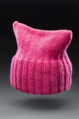 This pussy hat was knitted for journalist and activist Virginia Haussegger by feminist Anne Summers.