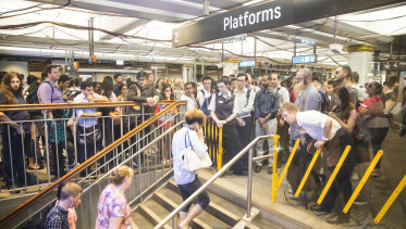 Commuters endured major overcrowding at Town Hall station during the network meltdown in January.