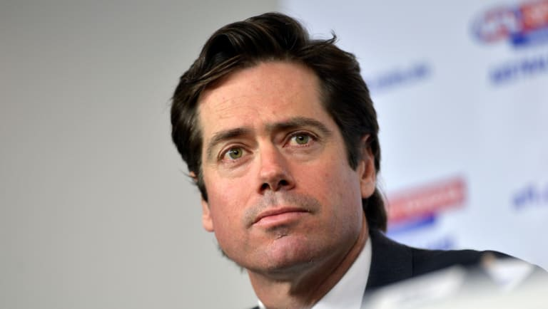 AFL CEO Gillon McLachlanbelieves players would be better off staying away from social media.