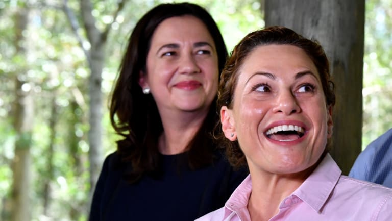 Premier Annastacia Palaszczuk (left) has backed her deputy Jackie Trad (right) to retain her seat against a Greens insurgency.