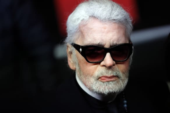 Karl Lagerfeld, pictured in November, has been appearing increasingly frail in recent months.
