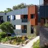 Colourful retirement home blends into bush setting