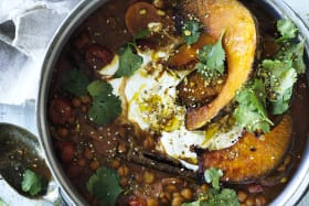 Meat-free Monday: Immune-boosting chickpea and roast pumpkin casserole